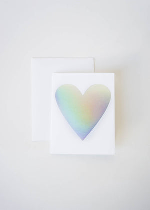 HOLOGRAPH HEART CARD