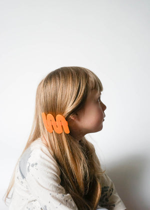 YELLOW WAVE BARRETTE