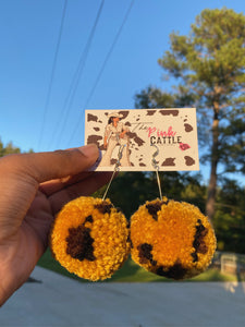 """Tiger King"" Pom Pom earrings"