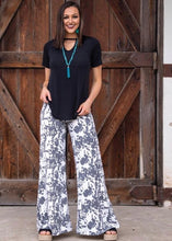Load image into Gallery viewer, Cowprint Wide Leg Pants