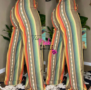 Lucky and Blessed Wide Leg Serape Pants