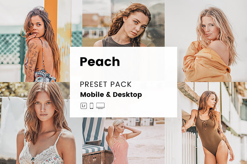 Peach Mobile & Desktop Lightroom Presets