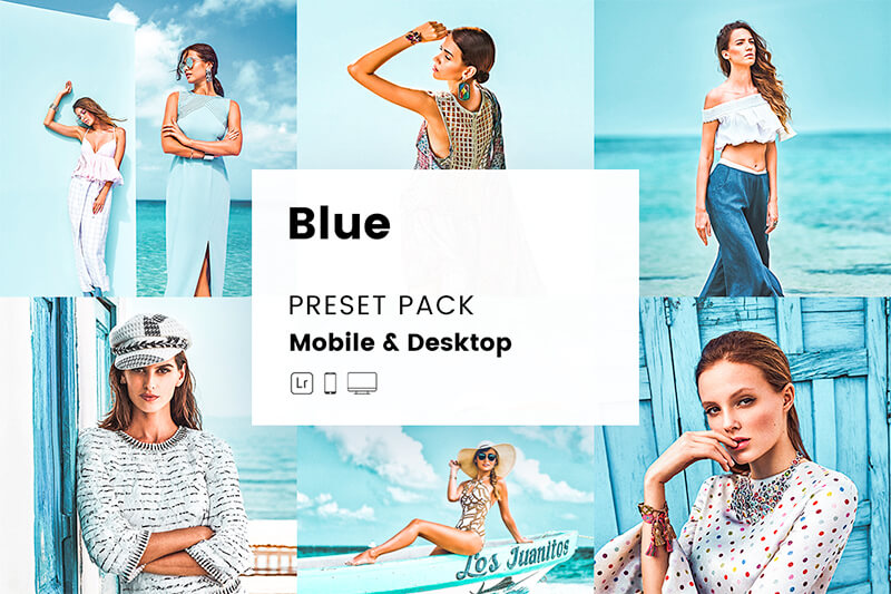 Blue Mobile & Desktop Lightroom Presets