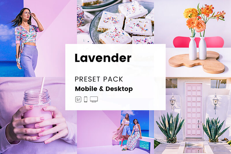 Lavender Mobile & Desktop Lightroom Presets