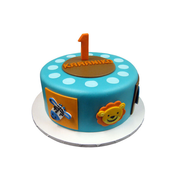 Animal Safari Birthday Cake