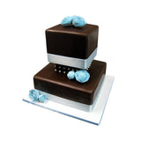 Square Chocolate Elegance Cake