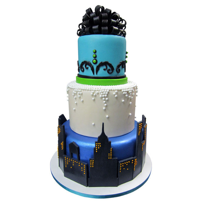 Classic Skyline Party Mixed Element Cake