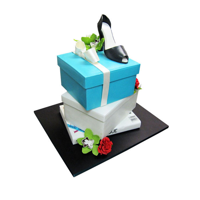 Heel, Shopping and Florals Fashion Cake