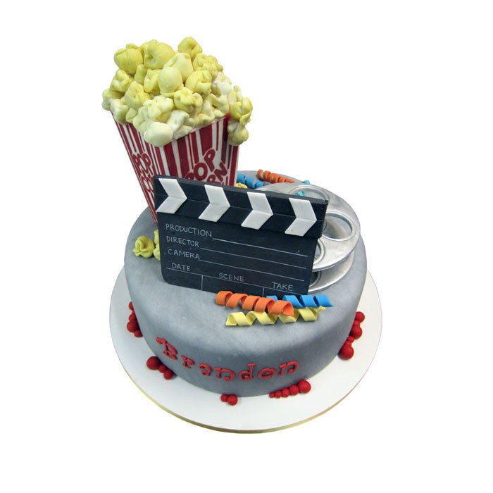 Popcorn and Movie Time Cake