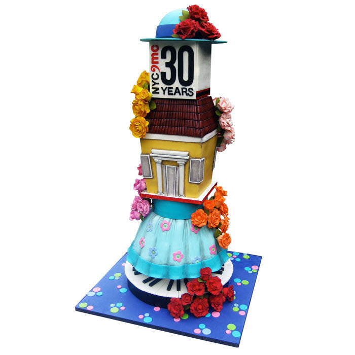 Towering Rosebud Celebration Cake