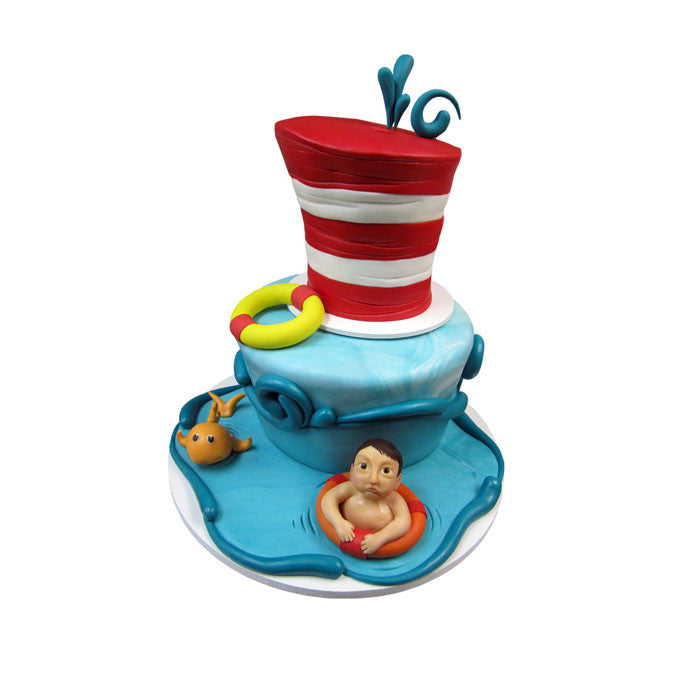 Swimming with Dr Suess Cake