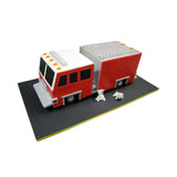 Fire Engine and Dalmatian Cake