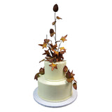 Autumn Foliage Burst Cake