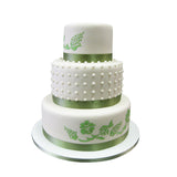 Fern & Pearl Hand Painted Cake