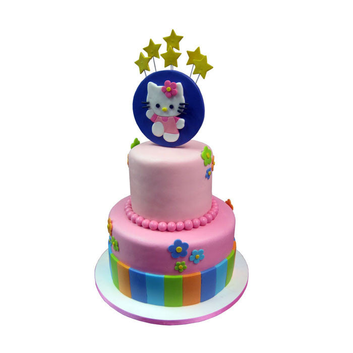 Dancing Hello Kitty Starburst Cake