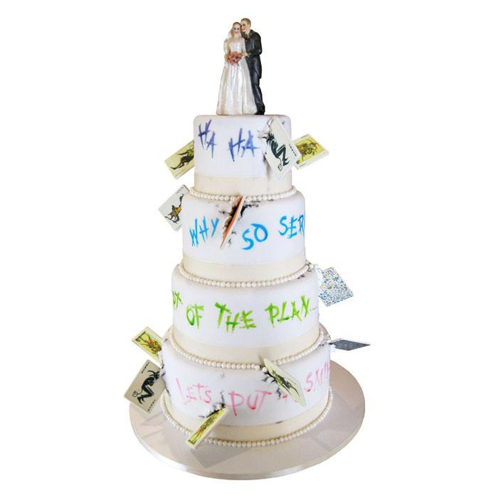 Joker's Revenge Wedding Cake