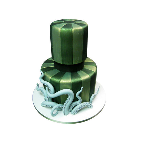 Painted Chandelier Silhouette Cake