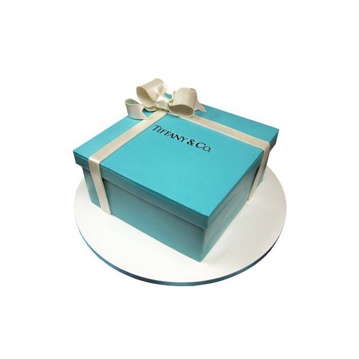 Tiffany & Co. Gift Box Cake