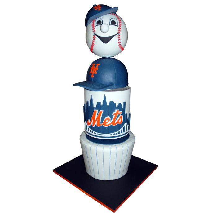 Mr. Met Classic New York Mets Cake