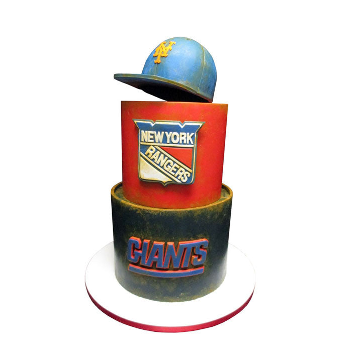 New York Sports Fan Cake