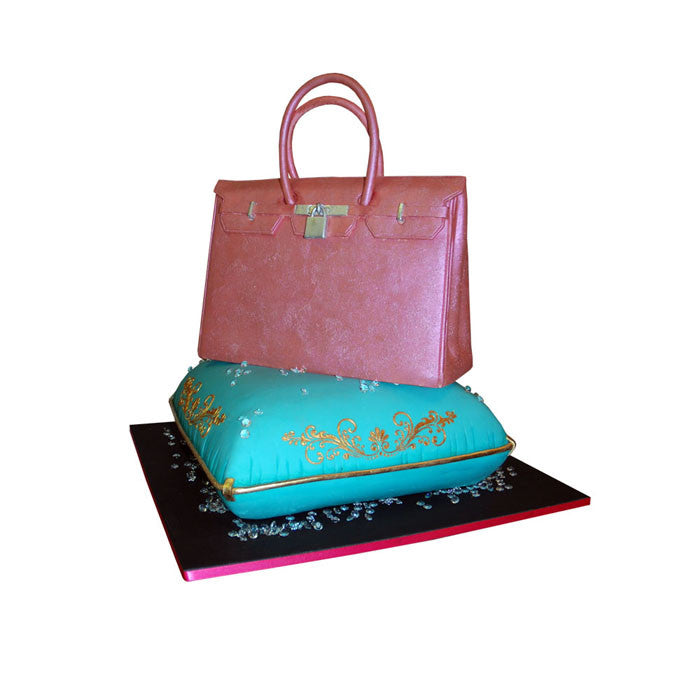 Hermes Birkin Bag and Bling Cake