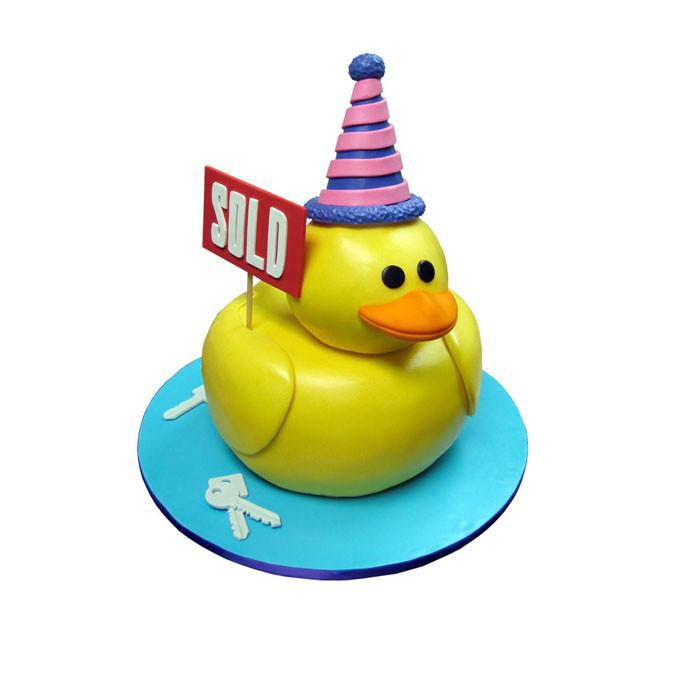 Real Estate Rubber Ducky Cake