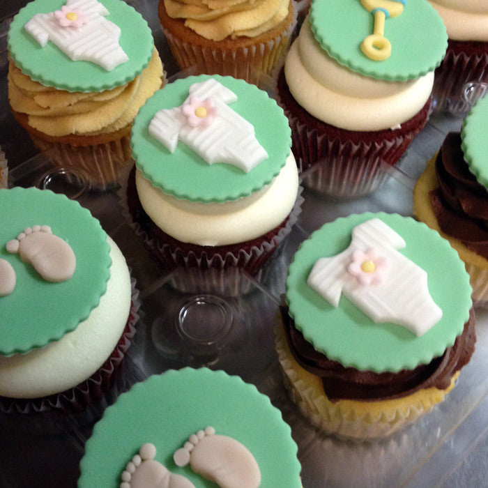 Mixed Baby Shower Custom Cupcakes