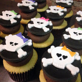 Girly Skull & Crossbone Custom Cupcakes