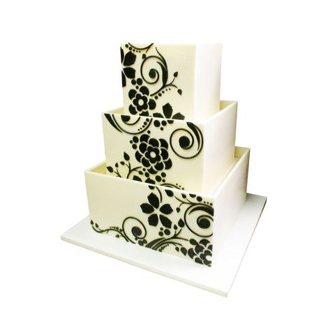 Triangular Art Deco Border Cake