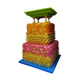 Ornate Indian Golden Celebration Cake