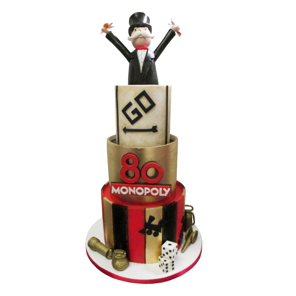 Monopoly Man 80th Anniversary Cake