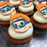 Bubble Guppies Nonny Custom Cupcakes