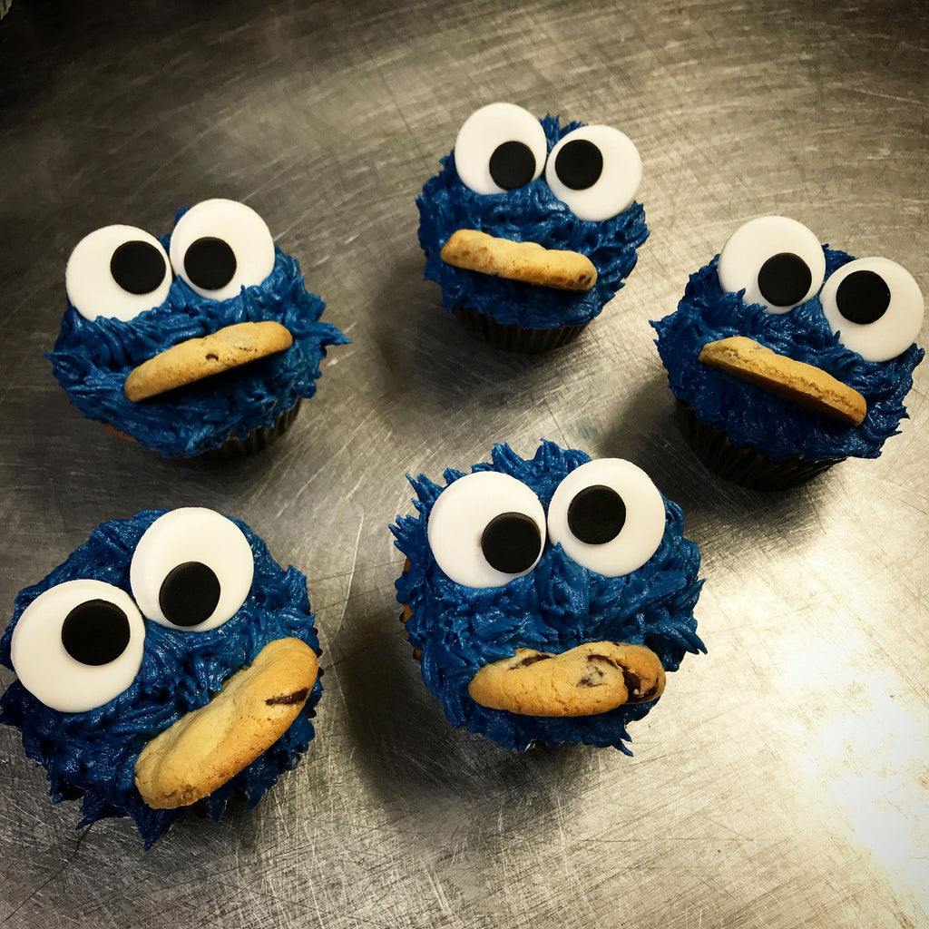 Cookie Monster Cookie Eatin Custom Cupcakes
