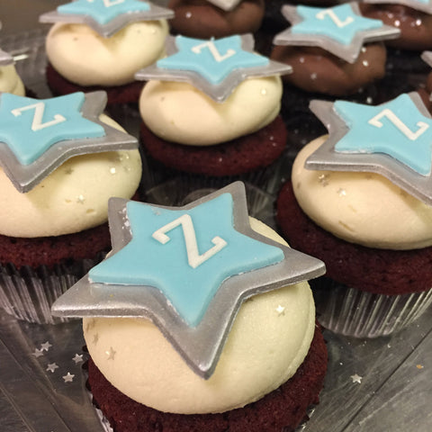 Sweet Baby Blue Custom Cupcakes