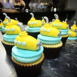 Yellow Submarine Custom Cupcakes