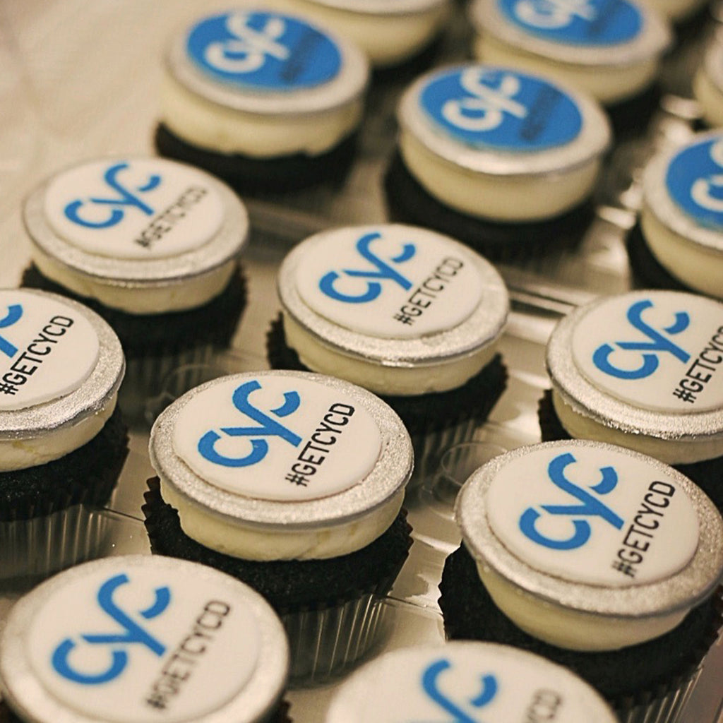 Cyc Launch Logo Custom Cupcakes