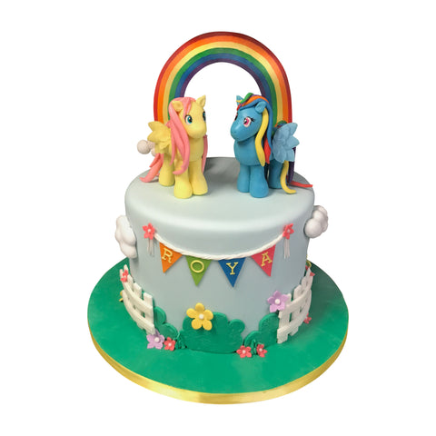Two Tier Baby Elephant Cake
