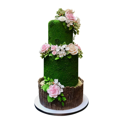 Watercolor Summer Garden Cake