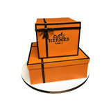 Stacked Hermes Gift Boxes Cake
