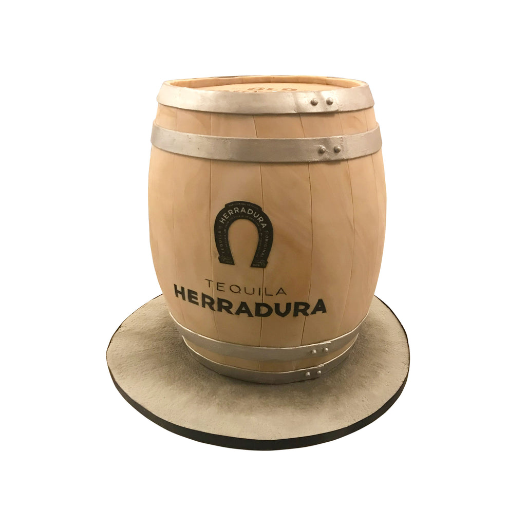 Herradura Wooden Barrel Cake