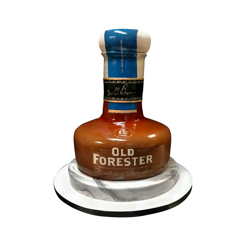 Old Forester Bourbon Bottle Cake