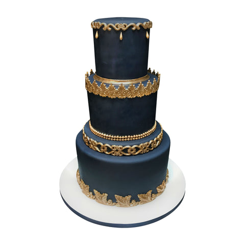 Six Tier Ivory Beauty Cake