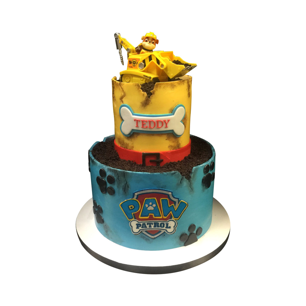 Paw Patrol Construction Cake