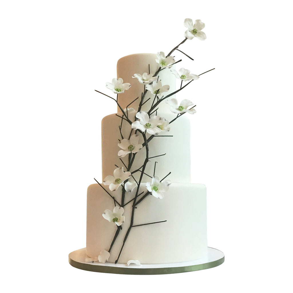 Light Ivory Dogwood Cake