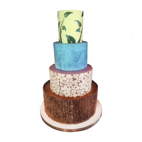 Marbleized Masterpiece Cake