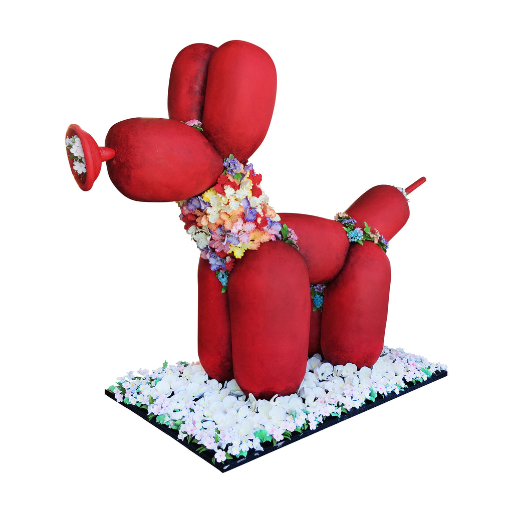 Red Dog Balloon Cake