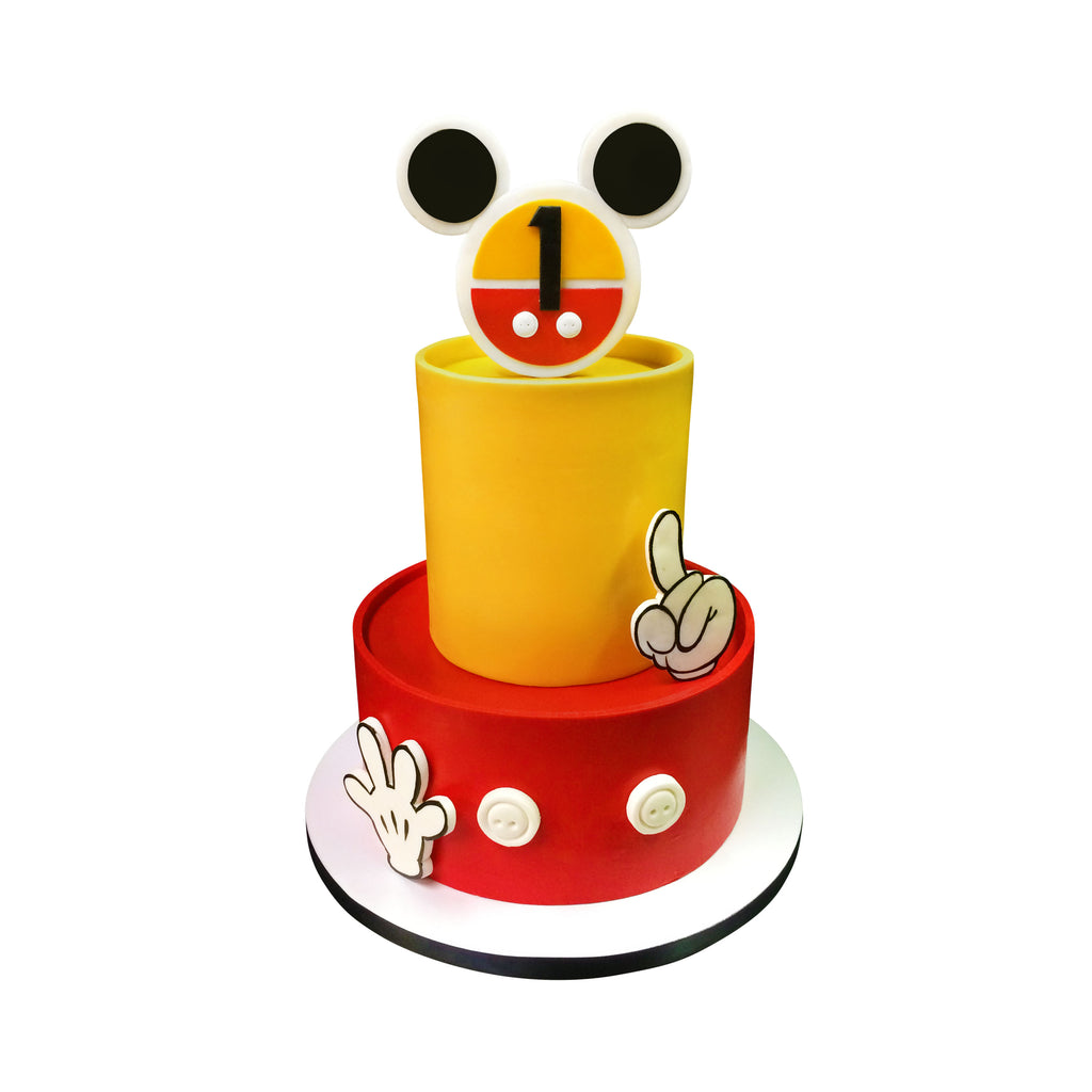 Mickey Mouse Hands Cake