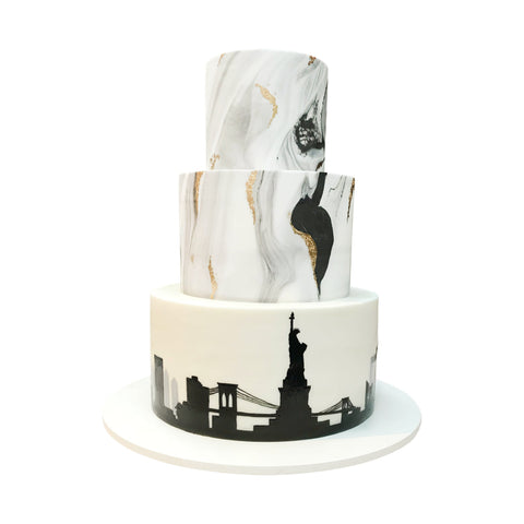 NYC Watercolor Cake