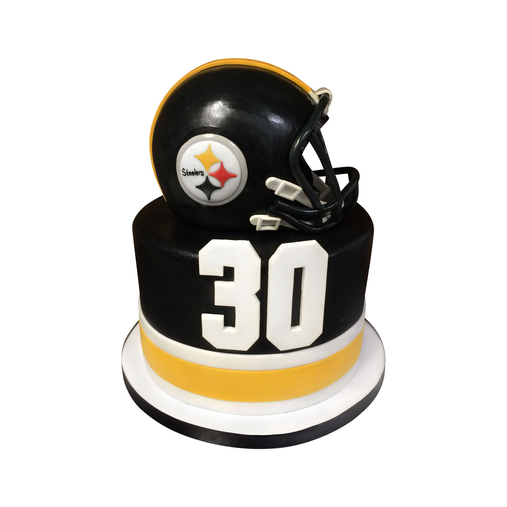 Wondrous Pittsburgh Steelers Helmet Cake City Cakes Funny Birthday Cards Online Fluifree Goldxyz