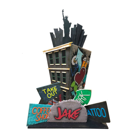 NYC in the Moonlight Cake